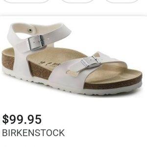 BIRKENSTOCK💟Rio White ANKLE Buckle Sandals